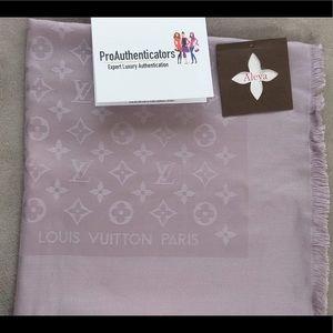 Authentic Louis Vuitton Purple Shawl